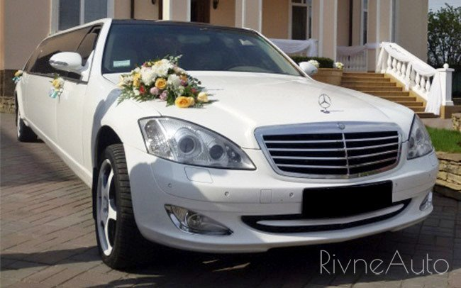 Аренда Лімузин Mercedes S-Class на свадьбу Рівнe