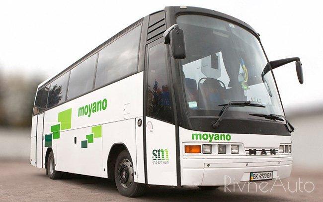 Аренда Автобус MAN 37 місць на свадьбу Рівнe