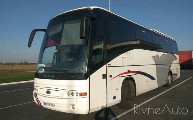 Аренда Автобус MAN 18.410 на свадьбу Рівнe