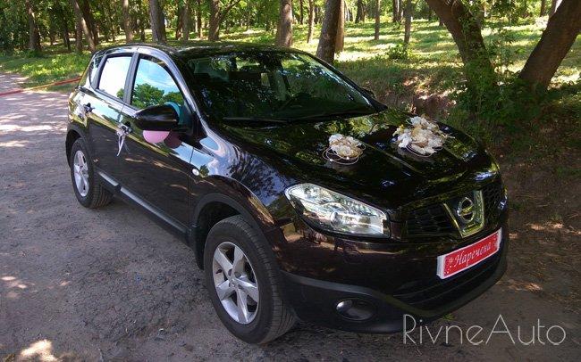 Аренда Nissan Qashqai на свадьбу Рівнe